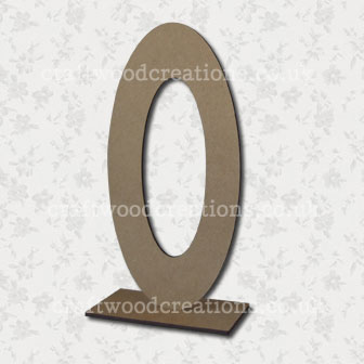 Free Standing Mdf Letters O