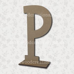 Free Standing Mdf Letters P