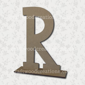 Free Standing Mdf Letters R