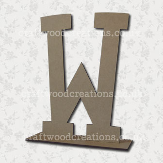 Free Standing Mdf Letters W