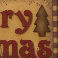 Merry Christmas Prim Style Sign