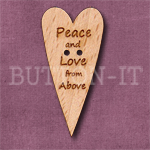 1135 Peace And Love Heart Button