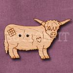 1139 Highland Cow Button