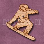 1254 Snowboarder Button