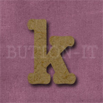Typewriter Style MDF Letter k