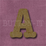 Typewriter Style MDF Letter A