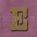 Typewriter Style MDF Letter E