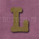 Typewriter Style MDF Letter L
