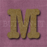 Typewriter Style MDF Letter M
