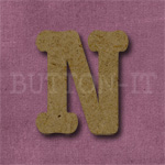 Typewriter Style MDF Letter N