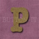 Typewriter Style MDF Letter P