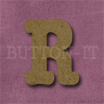 Typewriter Style MDF Letter R