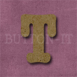 Typewriter Style MDF Letter T