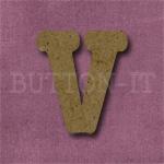 Typewriter Style MDF Letter V