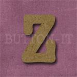 Typewriter Style MDF Letter Z