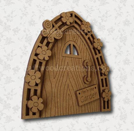 """Mdf Fairy Door """"Garden"""""""