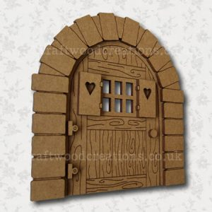 "Mdf Fairy Door ""Sweetheart"""