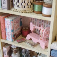 Cabinet of Shabby Chic Sewing Curiosities