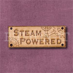 Steampunk Steam Powered Sign Button