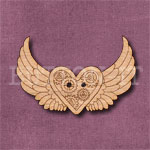 Steampunk Winged Heart Button