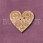 Steampunk Heart Button