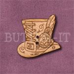 Steampunk Top Hat Button