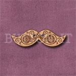 Steampunk Moustache Button