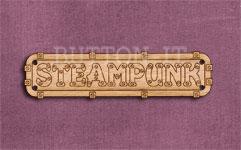Steampunk Sign Button