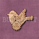 Steampunk Bird Button