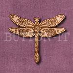 Steampunk Dragonfly Button