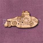 Steampunk Submarine Button