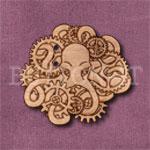 Steampunk Octopus Button