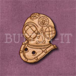 Steampunk Divers Helmet Button