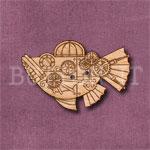 Steampunk Fish Submarine Button