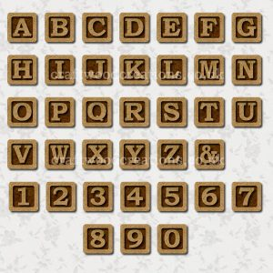 Alphabet Tiles Made From 2.5mm premium grade MDF