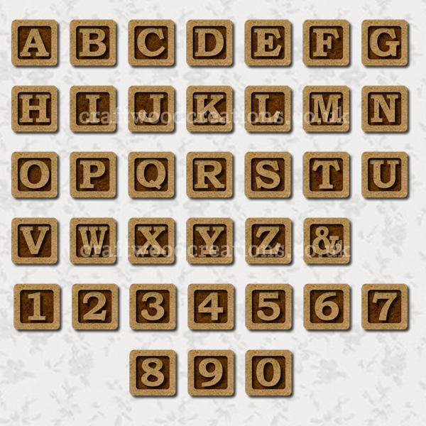 Alphabet Tiles Made From 2.5mm premium grade MDF