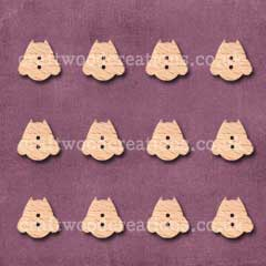 Midi Owl Shaped Buttons Laser Cut