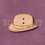Bowler Hat Button