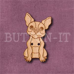 Boston Terrier Button