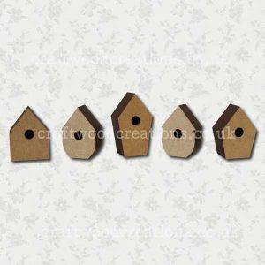 Mdf Iddy Biddy Birdhouses