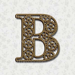 Steampunk Cog Alphabet Letter B