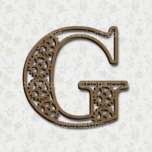 Steampunk Cog Alphabet Letter G