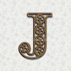 Steampunk Cog Alphabet Letter J