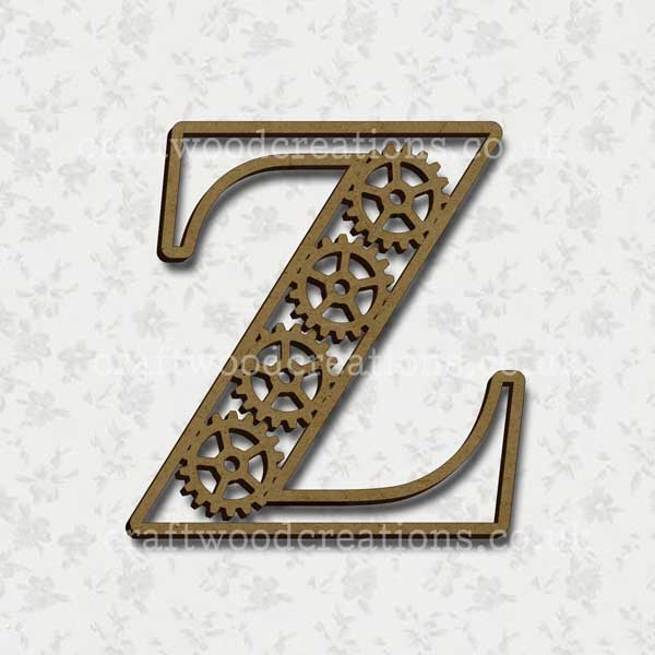 Steampunk Cog Alphabet Letter Z