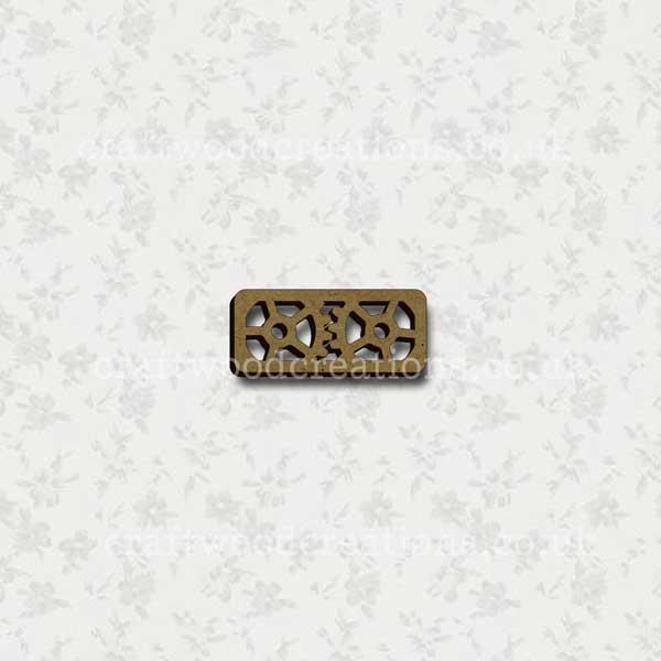 Steampunk Cog Alphabet Letter (hyphen)