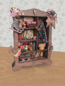 Prim Christmas Cabinet