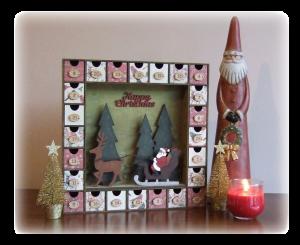 Advent Calendar with Santa and Sleigh Sample