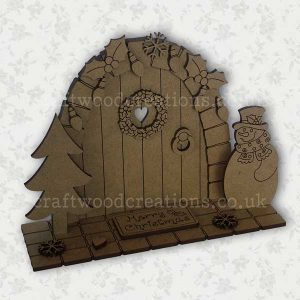 Christmas Fairy Door Scene