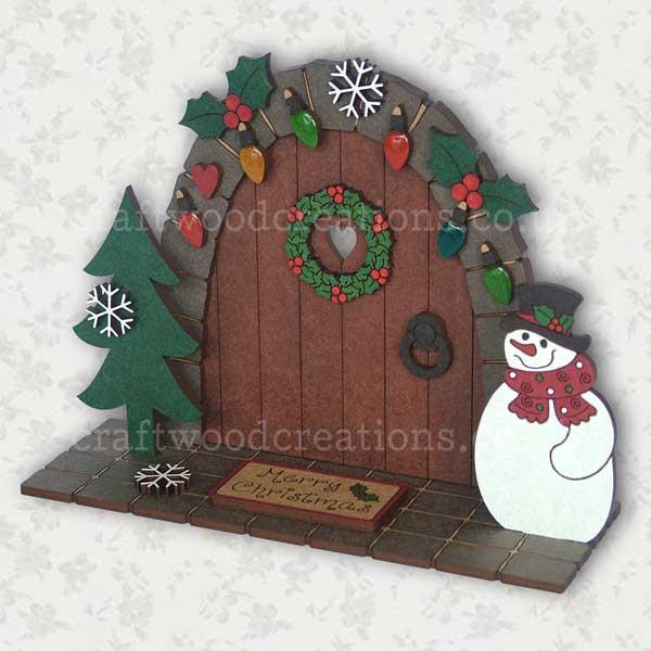 Christmas Fairy Door Scene