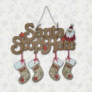 santa stop here sample